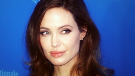 Angelina Jolie at Health & Beauty Lounge Zurich