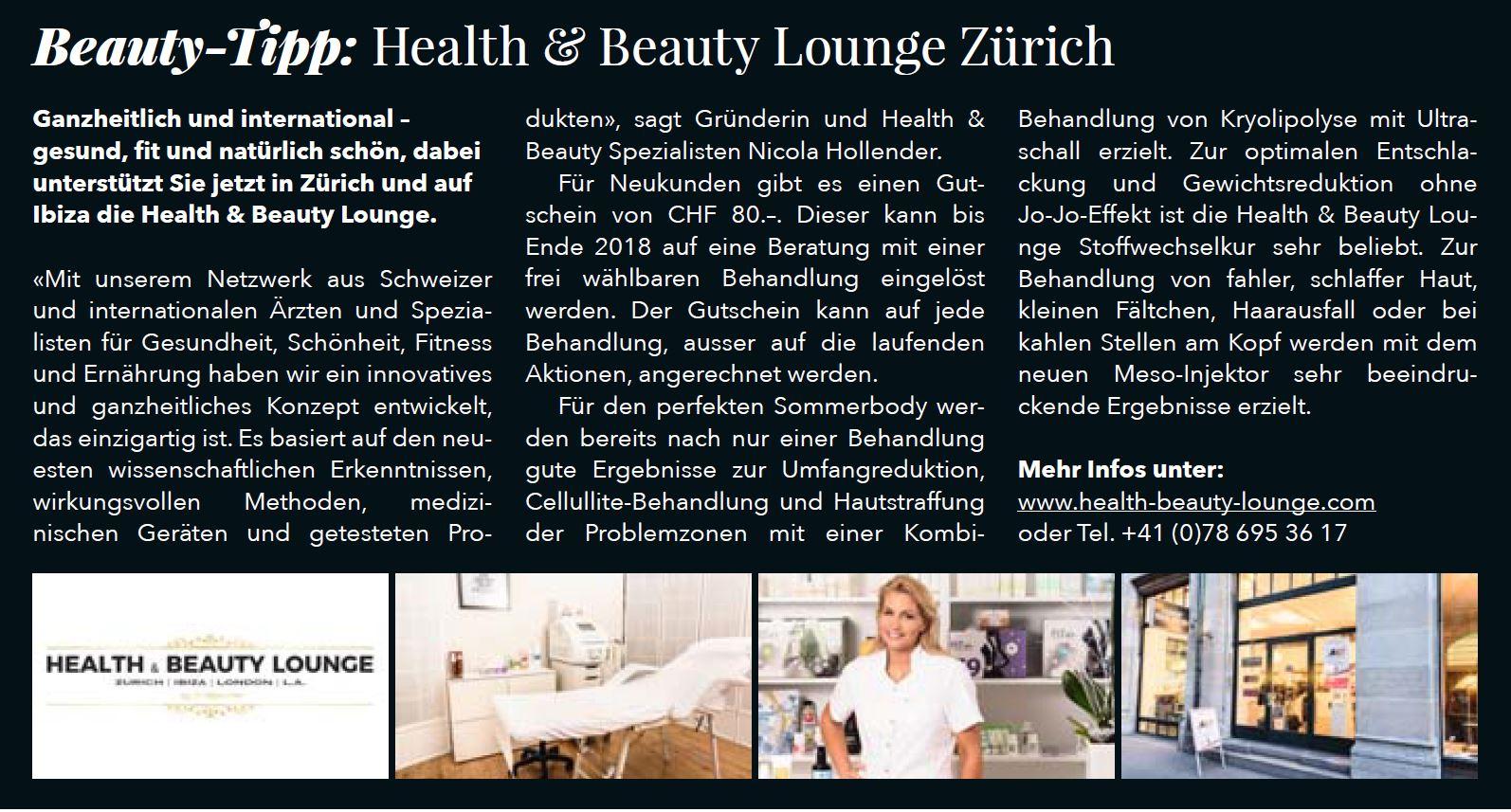 Health & Beauty Lounge Zurich