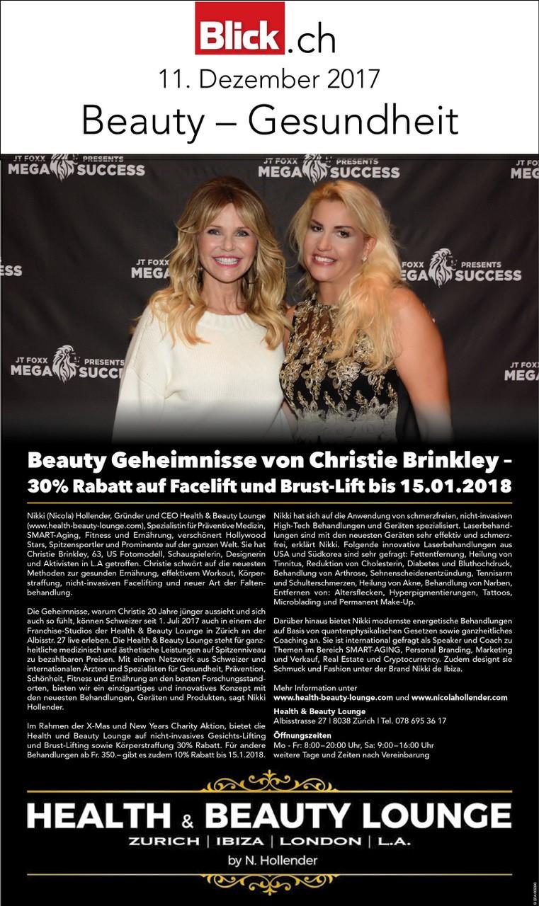 Beauty Geheimnisse von Christie Brinkley