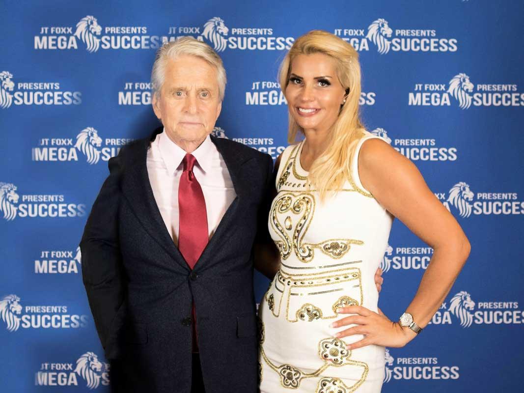 Nikki Hollender mit Michael Douglas